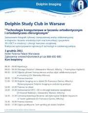 Dolphin Imaging Workshop, Varsavia 4 dicembre 2011