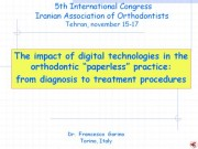 5th International Congress Iranian Association of Orthodontists, Teheran,Iran, 15-18 novembre 2006: Dr F Garino keynote speaker